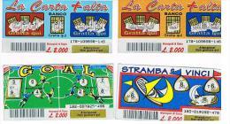 ITALIA - GRATTA E VINCI (LOTTERY) -   LOT OF 4 DIFFERENT TICKETS  OF EURO 2,00 (SEE DESCRIPTION) - Billetes De Lotería