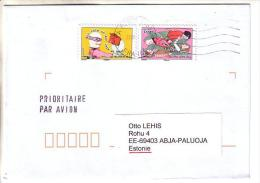 GOOD FRANCE Postal Cover To ESTONIA 2013 - Good Stamped: Fish ; Animal - France