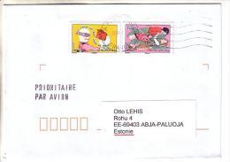 GOOD FRANCE Postal Cover To ESTONIA 2013 - Good Stamped: Fish ; Animal - Frankrijk
