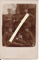 St Quentin Aisne Groupe Allemand Avec Mascotte Carte Photo Allemande Poilus 1914-1918 14-18 Ww1 WWI 1.wk - War, Military