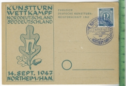 Northeim/Han.Kunstturn-Wettkampf, 14. Sept. 1947   Verlag:,  POSTKARTE Erhaltung: I-II,  Karte Wird In Klarsichthülle Ve - Northeim