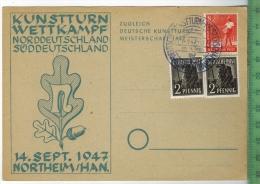 Northeim/Han.Kunstturn-We Ttkampf, 14. Sept. 1947   Verlag:,  POSTKARTE Erhaltung: I-II,  Karte Wird In Klarsichthülle V - Northeim