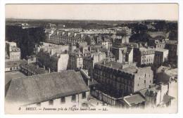 BREST  PANORAMA PRIS DE L EGLISE SAINT LOUIS - Brest