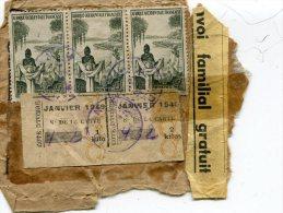 ENVOI FAMILIAL GRATUIT    JANVIER 1949  N° CARTE 432  COTE D\'IVOIRE - Côte D'Ivoire (1960-...)