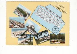 Carte 1960 Multivues Saint Pair ,Jullouville,Avranches,St Jean Le Thomas,Carolles - France