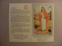 """Calendario Santino """"Piccoli Missionari Sacramentini - Auguri Di Buon Anno 1960"""" (Madonna Con Bambino) - Calendari"""