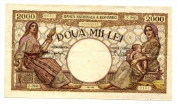 Roumanie Romania Rumänien 2000 Lei 1944 - Roumanie