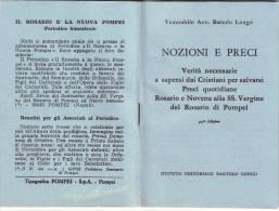 Libretto Religioso Nozioni E Preci-istituto Editoriale Bartolo Longo - Religione