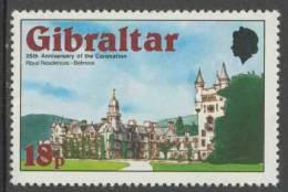 Gibraltar 1978 Mi 376 A  YT 375 ** Balmoral Castle, Aberdeen / Royal Palaces / Königsschlösser / Château - Kastelen