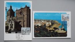 Spanien 2730/1 MaximumCard MK/MC, ESST Ciudad Rodrigo, Calella, Baudenkmäler - Tarjetas Máxima