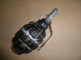 Grenade Mle F1 Défensive Noire, Pays De L' Est (inerte) - Equipement