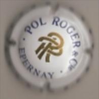 CAPSULE MUSELET CHAMPAGNE POL ROGER EPERNAY (bleu Et Or Sur Blanc) - Pol Roger