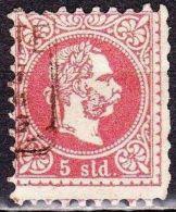 Osterreich / Austria 1867 Kaiser Franz Joseph Marken In Soldi Währung Grober Druck 5 So Rot Zähnung 9½ Mi 3 I A - Eastern Austria
