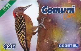 Dominican Republic, DMC002, $25 El Carpintero, Edition 1995, Birds, 2 Scans .