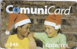 Dominican Republic, DMC083, 45 2 Kids, Christmas, 2 Scans .   Please Read.