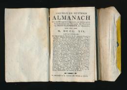 BRUGGE 1819 * NIEUWEN EN NUTTIGEN ALMANACH DER STAD BRUGGE * DRUK . BRUGGE BY WEDUWE DE MOOR EN ZOON * ZIE 5 SCANS - Antiguos