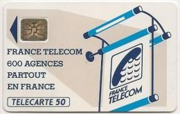 Te15Aa 510    Report Du Logement De La Puce Au Verso  -   600 Agences    TRES RARE  !!! - France
