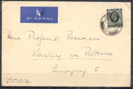 LETTRE   Cachet  LONDON   Annee  1937  Pour    L Allemagne  Timbre 4 P SEUL Sur LETTRE  Par Avion - 1902-1951 (Re)