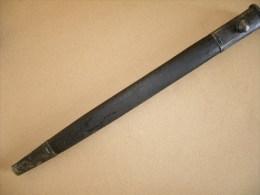 Fourreau Baïonnette Britannique ENFIELD  1907 En Cuir - Equipement