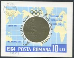 Rumänien - Roumenie - Rumania - Michel Block 59 - Oo Oblit. Used Gebruikt - Summer 1964: Tokyo