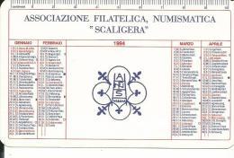"""CAL339 - CALENDARIETTO 1994 - ASSOCIAZIONE FILATELICA, NUMISMATICA """"SCALIGERA"""" - Formato Piccolo : 1991-00"""