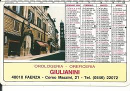 CAL343 - CALENDARIETTO 1994 - OROLOGERIA GIULIANINI - FAENZA - Formato Piccolo : 1991-00