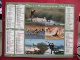 Calendrier Du Facteur,La Chasse & La Pêche - Oller - 2014 - 2 Photos - Grand Format : 2001-...