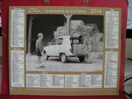 Calendrier Du Facteur, Renault 4L & Citroën 2CV - Oller - 2014 - - Calendars