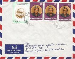 Zaire DR Congo 1980 Lubumbashi 1 Einstein Nobel Price Winner Cover - Albert Einstein