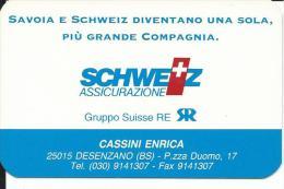 CAL361 - CALENDARIETTO 1995 - SCHWEIZ ASSICURAZIONE - Calendari