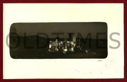 VILA NOVA DA BARQUINHA - CASTELO DE ALMOUROL ILUMINADO - 1950 REAL PHOTO PC - Santarem
