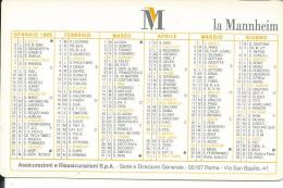 CAL372 - CALENDARIETTO 1995 - LA MANNHEIM ASSICURAZIONI - Calendari