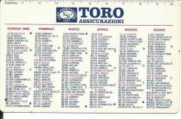 CAL378 - CALENDARIETTO 1995 - TORO ASSICURAZIONI - Calendari