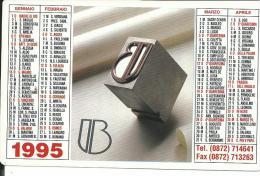 CAL379 - CALENDARIETTO 1995 - LITOGRAFIA BOTOLINI - LANCIANO - CHIETI - Calendari