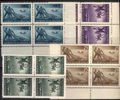 YUGOSLAVIA - TRIESTE - VUJA - ZONA B  - FISHER - DONKEY - Bl Of 4x  - **MNH - 1949 - 7. Trieste