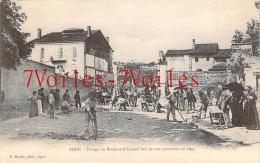 47 - Agen - Pavage Du Boulevard Carnot Lors De Son Ouverture En 1895 - Agen