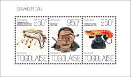 tg13621a Togo 2013 Painting Salvador Dali Clock s/s