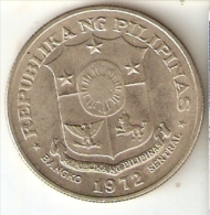 MONEDA DE FILIPINAS DE 1 PISO DEL AÑO 1972 (COIN) - Filipinas