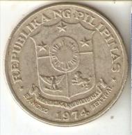 MONEDA DE FILIPINAS DE 1 PISO DEL AÑO 1974 (COIN) - Filipinas
