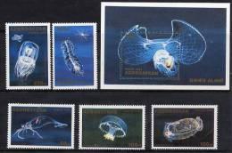 AZERBAIJAN 1995 Marine Fauna 5 Stamps + Block MNH / ** - Marine Life