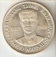 MONEDA DE PLATA DE FILIPINAS DE 1 PISO DEL AÑO 1969 DE IKASANDAANG TAONG  (COIN) SILVER-ARGENT - Filipinas
