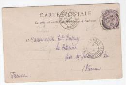 GB N°73 àbl  Cad JERSEY 4 SEPT. 1901 Sur CPA  Pour St JUNIEN Vienne Cad Entree Par GRANVILLE  Le 5 Sep.  BELLE PIECE - Jersey