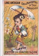 ANCIEN CHROMO IMAGE PUB LINGE AMERICAIN 1884 BEAU VISUEL CHINE JAPON ??? JAPAN ?? LITHO - Non Classés