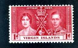 6507x)  Virgin 1937 ~ -Sc # 73 ( Cat.$ .40 )  Mint*~ Offers Welcome! - British Virgin Islands