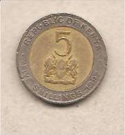Kenia - Moneta Circolata Da 5 Scellini - 1997 - Kenia