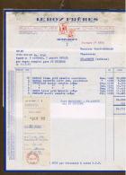 15 Factures LE ROY FRERES Chaussures Rosporden - 1950 - ...