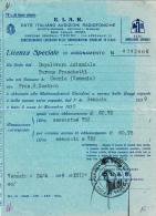 Abbonamento E.I.A.R. Licenza Speciale. Dopolavoro Aziendale. Caorle Venezia 1939 - Italy