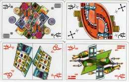 Holland Casino 15-11-2001 : Série De 4 Cartes : Jetons - Roulette - Machine à Sou - Champagne - Collections