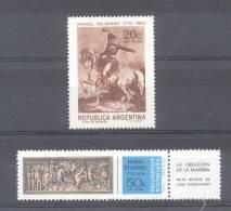 200 AÑOS DEL NACIMIENTO DEL GENERAL MANUEL BELGRANO 1770-1970 SERIE COMPLETA MNH TBE REPUBLICA ARGENTINA - Argentine