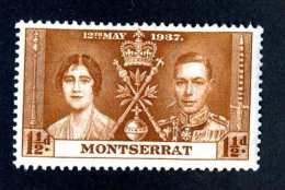6582x)  Monserrat 1937 ~ -Sc # 90 ( Cat.$ .75 )  Mnh**~ Offers Welcome! - Montserrat